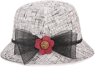 HongJie Hou hat, Sun hat, Sun hat, Mother's hat (Color : Grey, Size : M56-58cm)