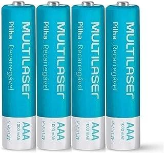 Pilhas Palito Recarregáveis Aaa 4 Unidades Multilaser