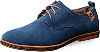 AARDIMI Zapatos bajos con cordones para hombre, estilo informal, zapatos de noche, con cordones