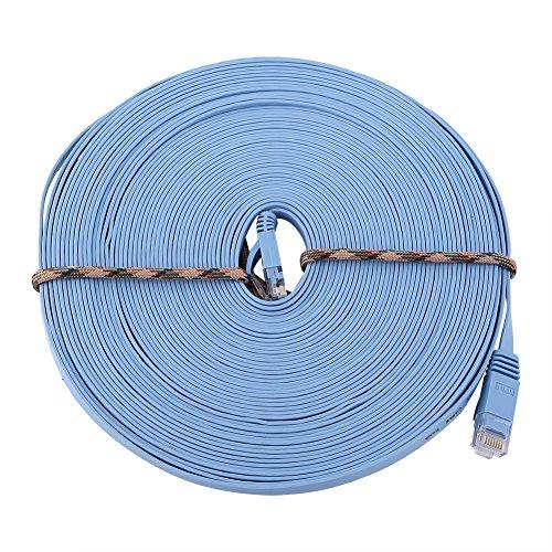 50 'FT Feet 50 Ft 50 Feet CAT6 RJ45 Red Ethernet Cable de conexión LAN Cable de 1000M Para se...