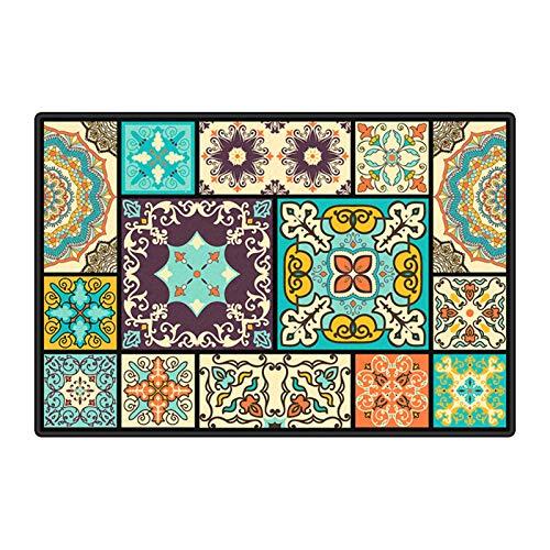 YRRA Alfombra oriental tradicional multicolor para el hogar, duradera, varios tamaños, para sala de estar, dormitorio, fácil de limpiar, 180 x 280 cm