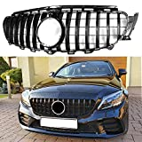 XinYu Carcyling Front Grille Grill for Mercedes Benz W213 E250 E350 E400 2016-2019 (Black)