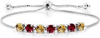 Gem Stone King Build Your Own Bracelet - Personalized 7 Birthstones Bracelet 925 Sterling Silver