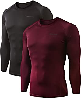 mens white long sleeve compression shirt