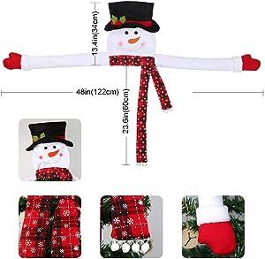 Aytai Snowman Christmas Tree Topper Large Tree Topper for Christmas Tree Decoration