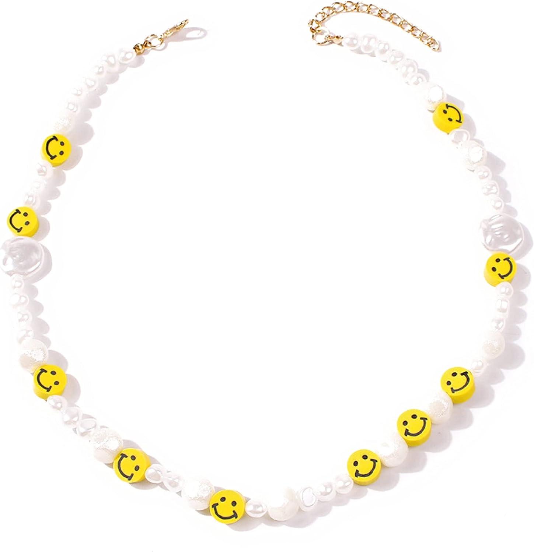 Bohemian Bead Pearl Choker Necklace for Women Girl Teen Men Handmade Colorful Seed Beaded Boho Choker Y2K Jewelry