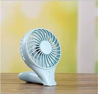 SHANGRUIYUAN-Mini Fan Foldable USB Charging Multifunction Fan Handheld Mini Silent Fan Lithium Battery Office Cooling Fan (Color : Blue)