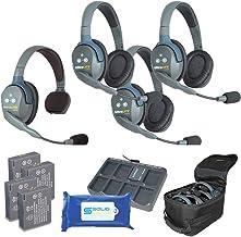 $795 » Sponsored Ad - Eartec UL413 Ultralite Full Duplex Wireless Headset Communication for 4 Users - 1 Single Ear and 3 Dual Ear...