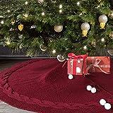 Nightt-Gring Weihnachtsbaum-Rock, 122 cm, gestrickt, rustikal, dick, schweres Garn,...