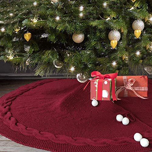 Haorw Weihnachtsbaum Rock Weihnachtsmann Weihnachtsbaumdecke F/ür Hause Dekoration 120cm