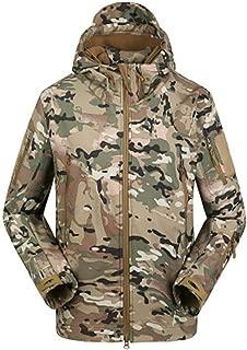 Military Tactical Lurker Shark Skin Softshell Jacket Men Waterproof Windproof Camo Coat Hooded Army Clothing