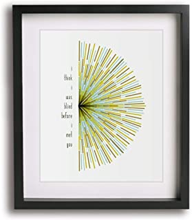 First Day Of My Life by Bright Eyes inspired song lyric art print