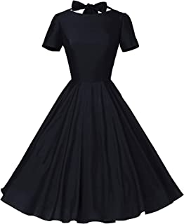 Womens 1950s Vintage Retro Party Swing Dress Rockabillty Stretchy Dress