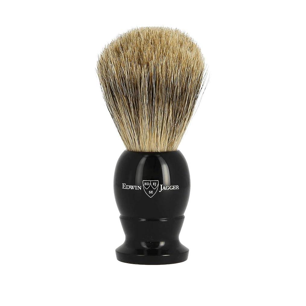 尾暗殺する鏡エドウィンジャガー ベストバッジャーアナグマ毛 エボニーシェービングブラシミディアム1EJ876[海外直送品]Edwin Jagger Best Badger Ebony Shaving Brush Medium 1EJ876 [並行輸入品]