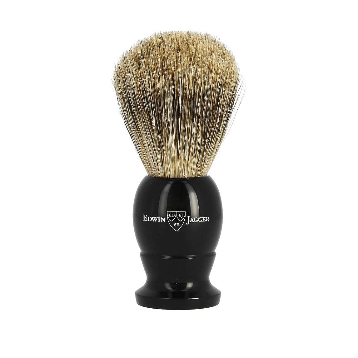全滅させる幸運な男エドウィンジャガー ベストバッジャーアナグマ毛 エボニーシェービングブラシミディアム1EJ876[海外直送品]Edwin Jagger Best Badger Ebony Shaving Brush Medium 1EJ876 [並行輸入品]