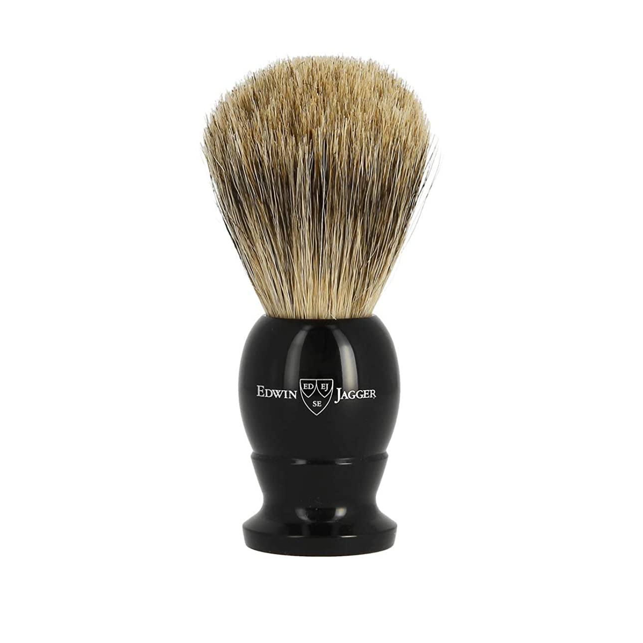 代理店極めて雷雨エドウィンジャガー ベストバッジャーアナグマ毛 エボニーシェービングブラシミディアム1EJ876[海外直送品]Edwin Jagger Best Badger Ebony Shaving Brush Medium 1EJ876 [並行輸入品]