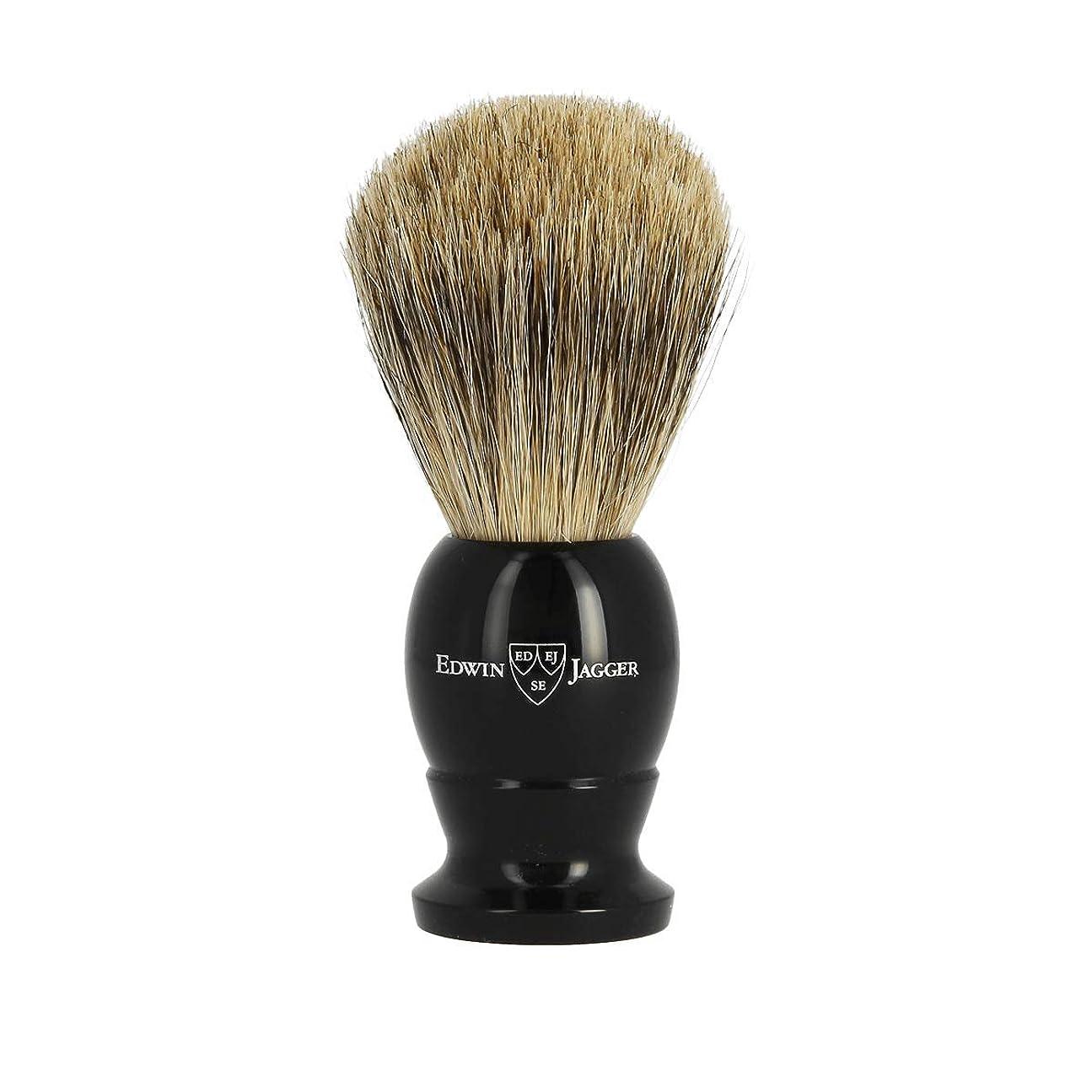学校クスクス全体エドウィンジャガー ベストバッジャーアナグマ毛 エボニーシェービングブラシミディアム1EJ876[海外直送品]Edwin Jagger Best Badger Ebony Shaving Brush Medium 1EJ876 [並行輸入品]