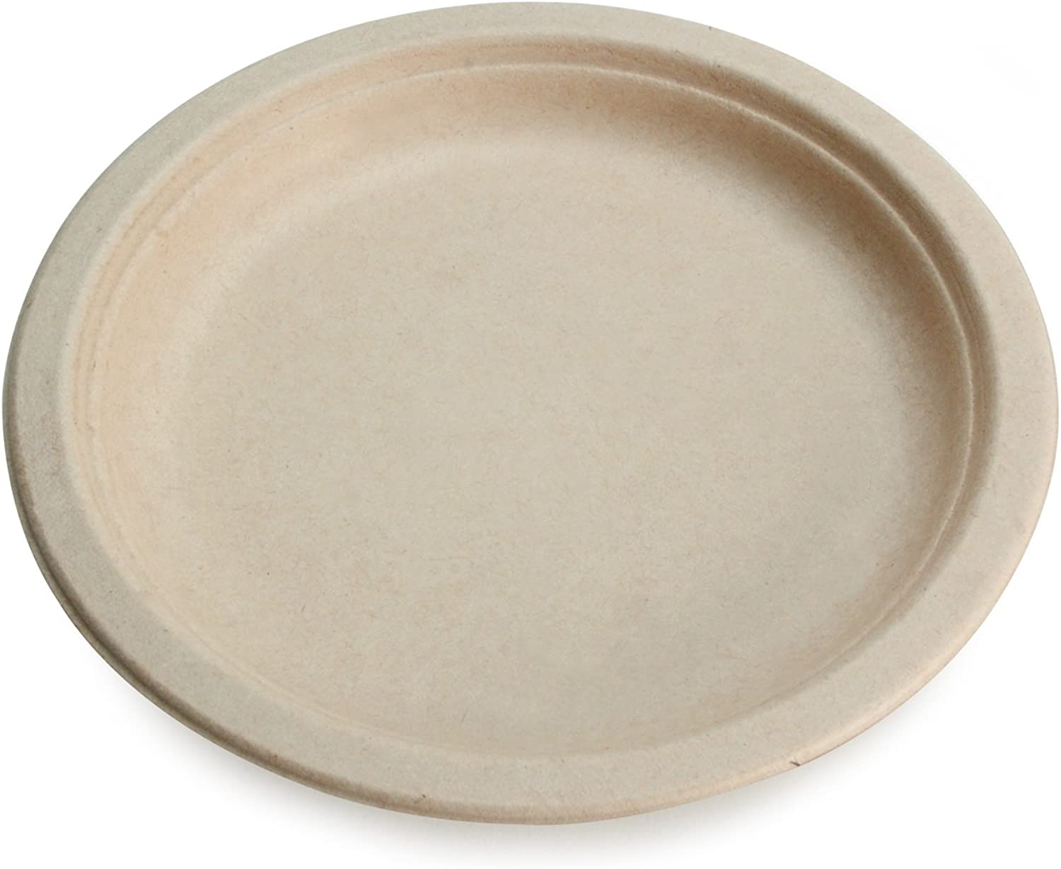 Earth's Natural Alternative Eco-Friendly, Natural Compostable Plant Fiber 10  Plate, Natural, 500 Count