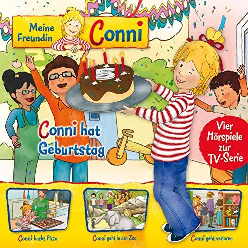 Conni hat Geburtstag / Conni backt Pizza / Conni geht in den Zoo / Conni geht verloren Titelbild
