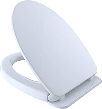 TOTO SS204#01 Contemporary SoftClose Oval Toilet Seat Cotton White by Toto