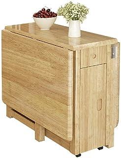 Tables de Salle à Manger Tables de Jardin Nordic Maison télescopique Bureau Pliant Petit Appartement rectangulaire en Bois...