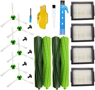 Theresa Hay Replacement Parts Multi-Surface Rubber Brushes Filters Side Brushes Compatible for iRobot Roomba i7 i7+/i7 Plus E5 E6 E7 Robotic Vacuum Cleaner Accessory