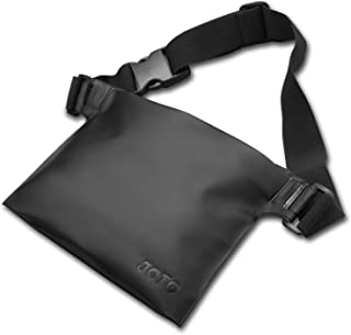 JOTO Waterproof Case Dry Bag Pouch Waist Pack with Strap, Waterproof Case Bag for Beach, Swimming, Boating, Fishing, Protect Your Cellphone, Camera, Cash, Wallet, Passport from Water Sand (Black)