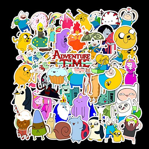 DSSJ 50 Dibujos Animados Anime Adventure Time Treasure Adventure Time Bicicleta eléctrica Balance Scooter Casco Pegatinas