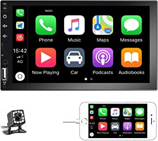 Podofo Double Din Car Stereo Car Radio with buletooth 7'' HD Touchscreen Car Multimedia Player Support FM/USB/AUX/D-Play i... photo