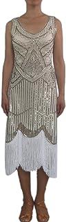 whitewed Beaded Sequin Fringe 20s Speakeasy Party Theme Dresses Costumes Cothing