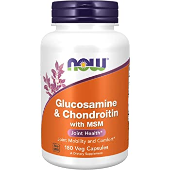 NOW Supplements, Glucosamine & Chondroitin with MSM, Joint Health, Mobility and Comfort*, 180 Capsules