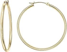Best 2 inch 14k gold hoop earrings Reviews