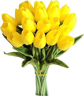Mandy's 20 Pcs Yellow Artificial Tulip Flowers 14