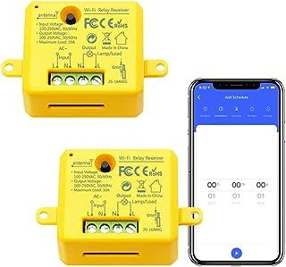 LoraTap Interruttore Timer WiFi Alexa, Interruttore Intelligente Wireless Controllo Remoto con Telefono App iOS Android, C...