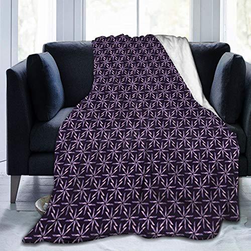 Manta mullida, diseño de Pinwheel con paleta de colores oscuros, patrones abstractos de invierno, ultra suave, manta para dormitorio, cama, TV, manta de cama de 152 x 127 cm