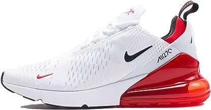 NIKE Air Max 270 - Mens White/Black/University Red Nylon Basketball Shoes 11 D(M) US
