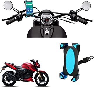 Vheelocityin Mirror Attachment Bike Mobile Holder for Tvs Apache RTR 200 4V