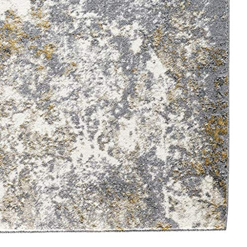 6490 Gray Abstract 5 x 7 Area Rug Carpet Large New