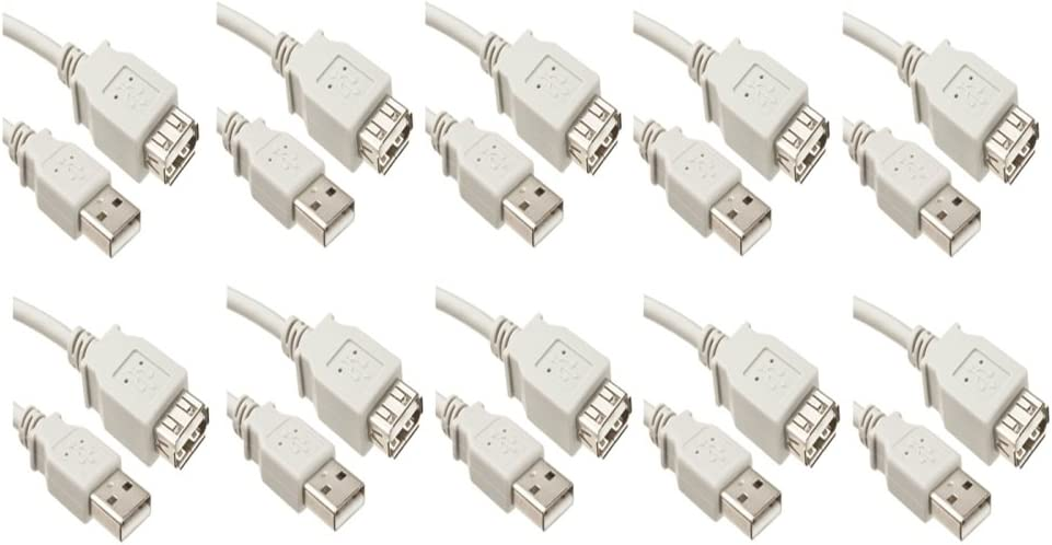 CE 10 Pack USB Max 46% OFF 2.0 A Male 15 Safety and trust Feet Extension Cable to W Female