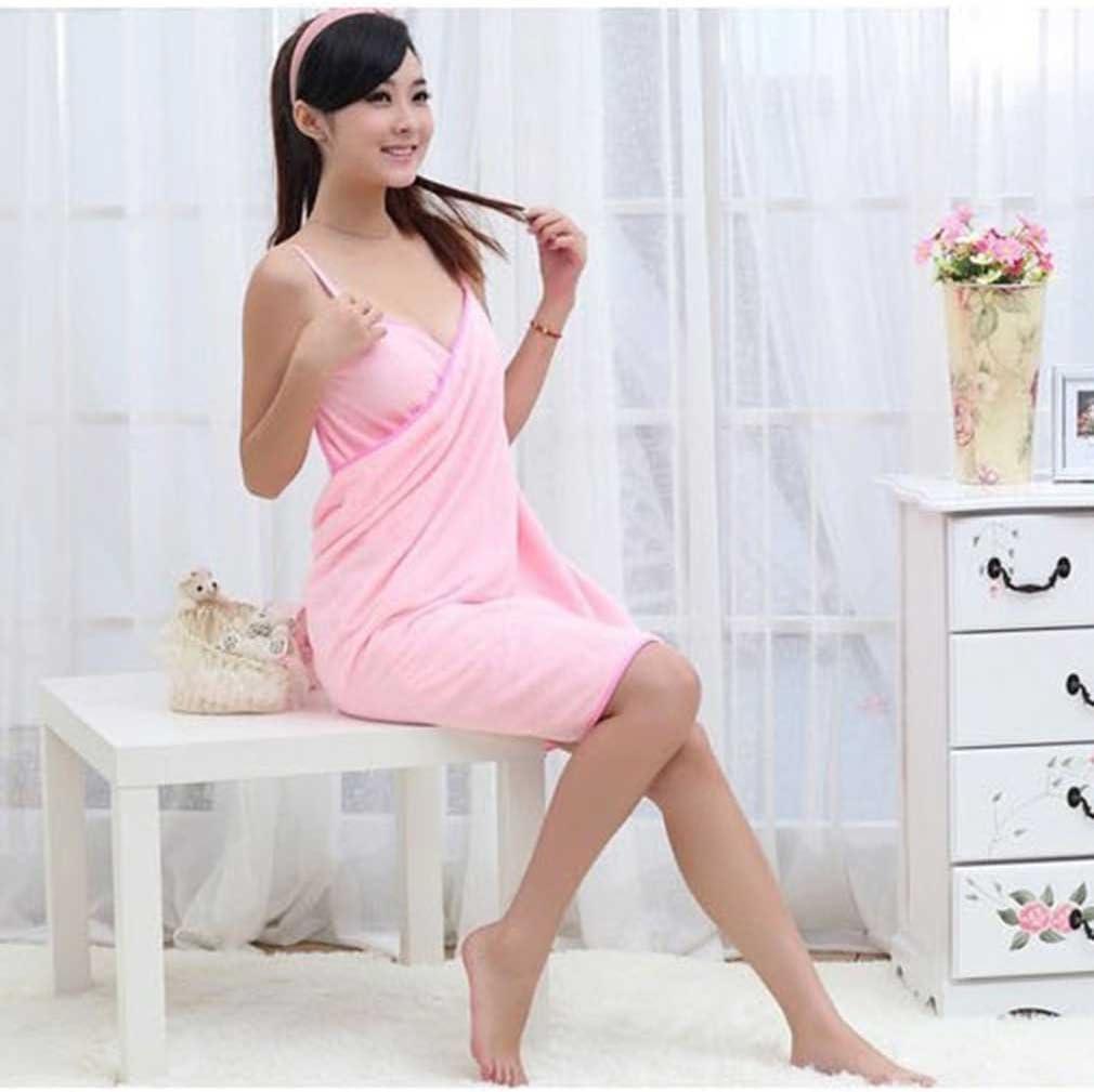 Bathing Thick Skirt Bathrobe Bath Towel Gown Microfiber Towel Wearable Dress US
