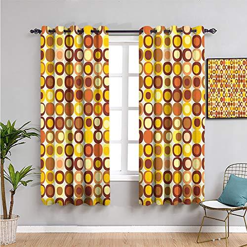 VICWOWONE Mid Century Farmhouse Vorhang, Vorhänge 183 cm lang, Kitsch- und Retro-Stil, runde Kanten, quadratisches...