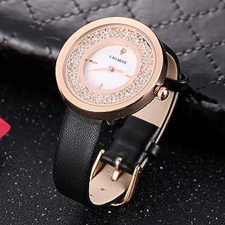 Watches for Women Men Water Resistant Fashion Women Quartz Wrist Watch with Leather Band Novel Watch (SKU : Wa3216bjw)