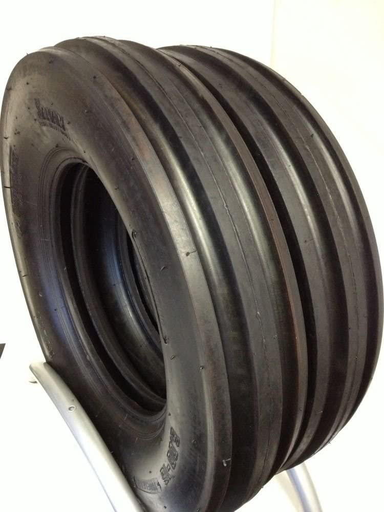 Two 6.00-16 Front Tractor Tires 3 Rib 10 Ply Rated Load E Tubele