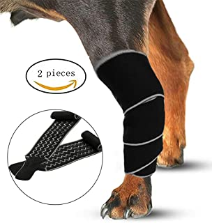 Morezi Dog Brace Dog Rear Leg Braces Wrap Sleeve Protects Wounds Pet Brace Heals and Prevent Injuries, Sprain, and Loss of Stability from Arthritis, One Size Fits All