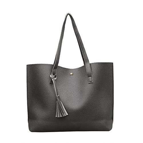 b4f40dc2a Nodykka Women Tote Bags Top Handle Satchel Handbags PU Pebbled Leather  Tassel Shoulder Purse