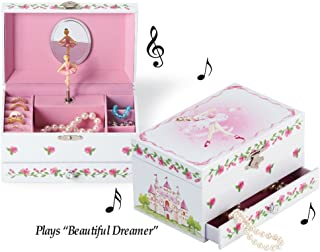 Collections Etc Ballerina Wind Up Musical Jewelry Box
