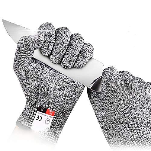 防刃手袋 軍手 手袋 滑り止め手袋 耐切創手袋 左右セット 作業用 魚の切り身加工、マンドリンのスライス、肉加工 Lサイズ