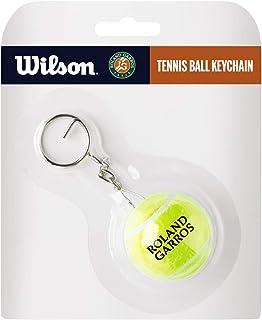 Wilson Unisex Adult 2-WR8401401001 Tennis Ball Keychain With W1&roland Garros Logo - Yellow, One Size