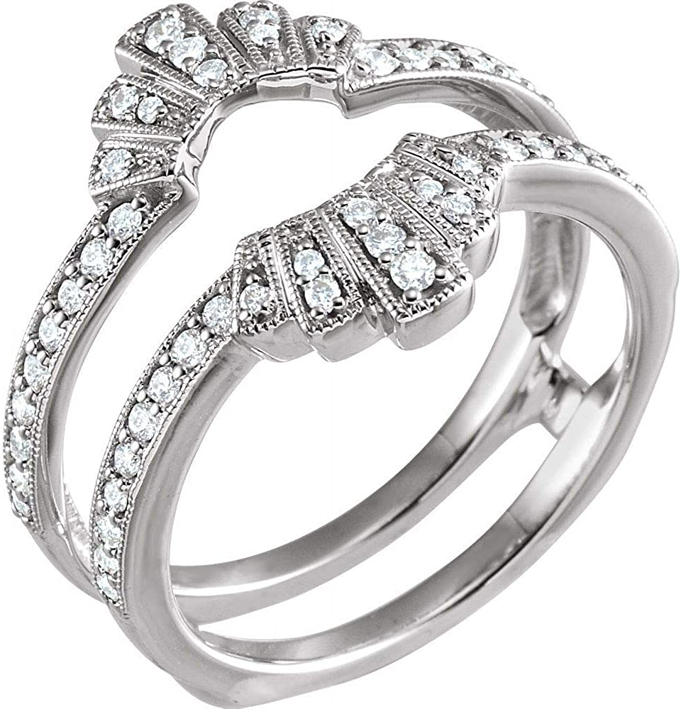 1 3 Cttw Sale SALE% OFF Diamond Ring Band At the price of surprise Guard 16.7mm Width = .33