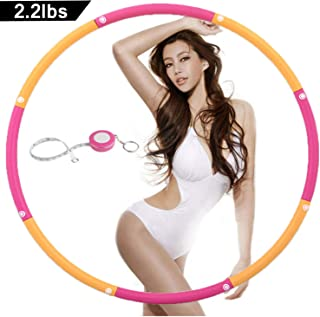 NEOWEEK   Upgraded   Weighted Hula Hoops for Exercise - 2.2lb, Professional Adult Hula Hoop for Weight Loss